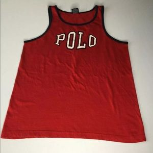VTG 90s RARE RALPH LAUREN SPELL OUT TANK TOP SZ S